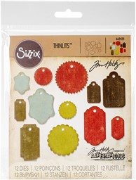 Bild von Sizzix Thinlits Dies By Tim Holtz 12/Pkg-Gift Tags