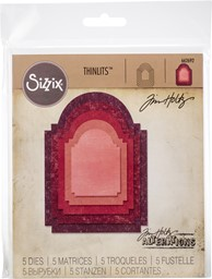 Bild von Sizzix Thinlits Stanze By Tim Holtz  Stacked Archway