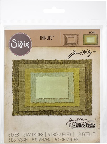 Bild von Sizzix Thinlits Stanze By Tim Holtz  Stacked Deckle