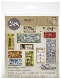 Bild von Sizzix Thinlits Dies By Tim Holtz -Ticket Booth