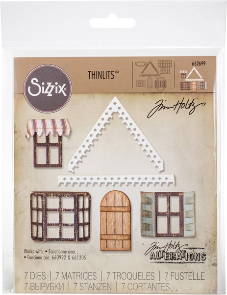 Bild von Sizzix Thinlits Stanze By Tim Holtz  Village Fixer Upper