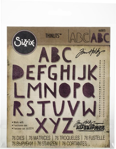 "Bild von Sizzix Thinlits Stanze By Tim Holtz 72/Pkg Alphanumeric, Cutout Upper .75"" Tall"