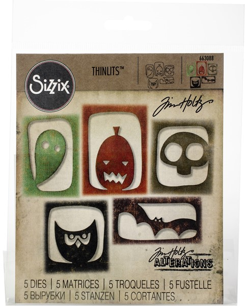 Bild von Sizzix Thinlits Stanze By Tim Holtz 5/Pkg Halloween Hangouts