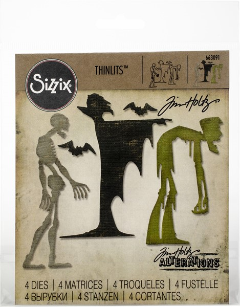 Bild von Sizzix Thinlits Stanze By Tim Holtz 4/Pkg Ghoulish
