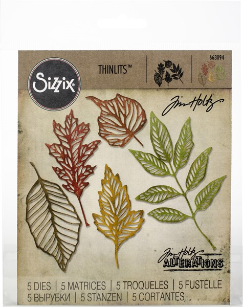Bild von Sizzix Thinlits Stanze By Tim Holtz 5/Pkg Skeleton Leaves