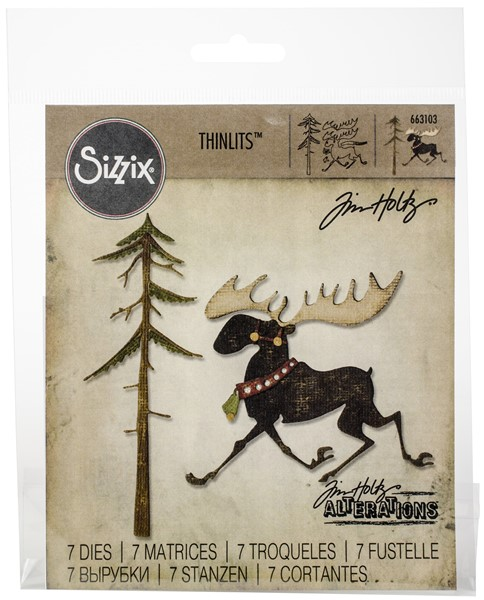 Bild von Sizzix Thinlits Dies By Tim Holtz 12/Pkg-Merry Moose