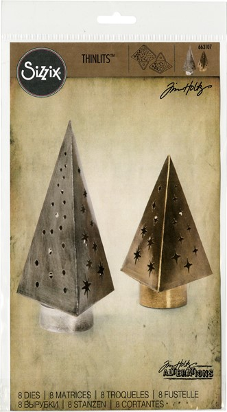 Bild von Sizzix Thinlits Stanze By Tim Holtz 8/Pkg Tree Light
