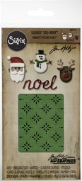 Bild von Sizzix Sidekick Stanzen & Embossing Set  By Tim Holtz Christmas