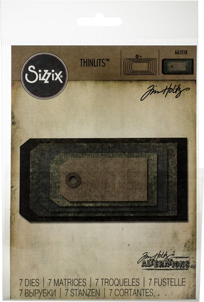 Bild von Sizzix Thinlits Stanze By Tim Holtz 7/Pkg Stacked Tags