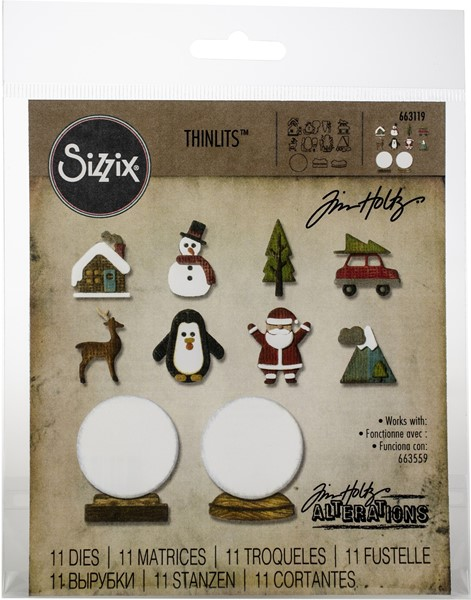 Bild von Sizzix Thinlits Stanze By Tim Holtz 11/Pkg Tiny Snowglobes