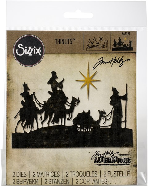 Bild von Sizzix Thinlits Stanze By Tim Holtz 2/Pkg Wise Men