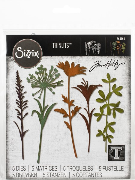 Bild von Sizzix Thinlits Stanze By Tim Holtz Wildflower Stems #2