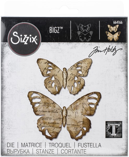Bild von Sizzix Bigz Stanze By Tim Holtz Tattered Butterfly