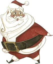 Bild von Sizzix Thinlits Stanze By Tim Holtz Jolly St. Nick