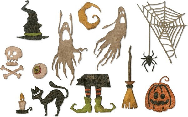 Bild von Sizzix Thinlits Dies By Tim Holtz-Frightful Things