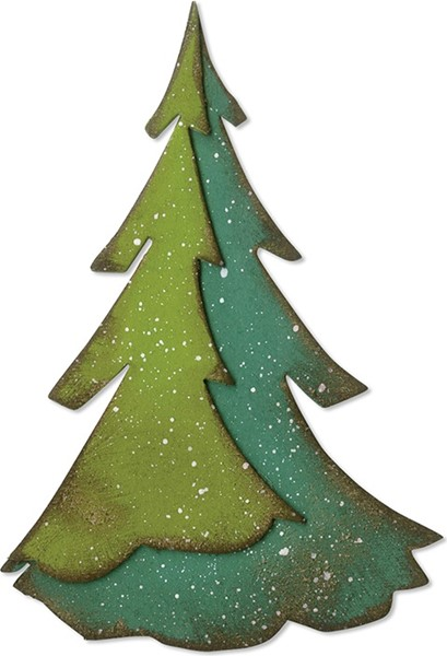 Bild von Sizzix Bigz Stanze By Tim Holtz Layered Pine