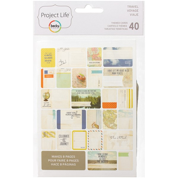 Bild von Project Life Themenkarten 40/Pkg Travel
