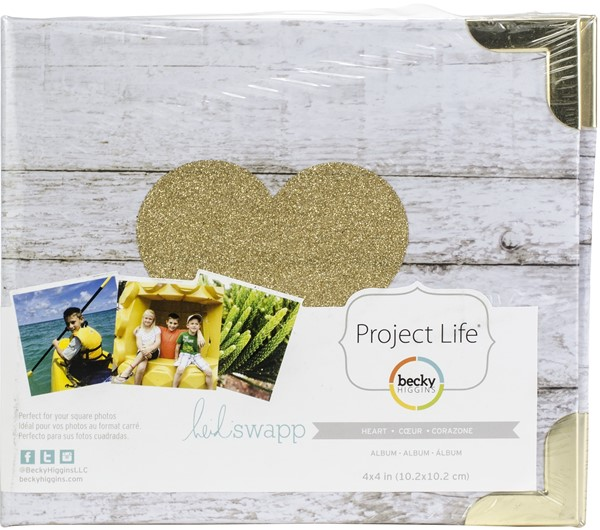 "Bild von Project Life D-Ring Album 4""X4""   Glitter Heart"