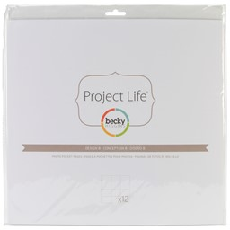 Bild von Project Life Photo Pocket Pages 12/Pkg-Design A