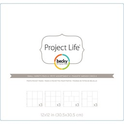 Bild von Project Life Photo Pocket Pages 12/Pkg-Small Variety Pack 4
