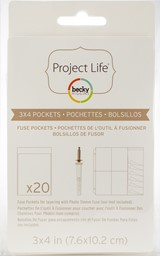 "Bild von Project Life Photo Fuse Sleeves 20/Pkg-3""X4"""