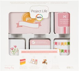 Bild von Project Life Core Kit-Baby Girl, 616/Pkg