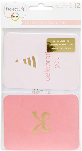 Bild von Project Life Specialty Foil Card Pack 12/Pkg Baby Girl