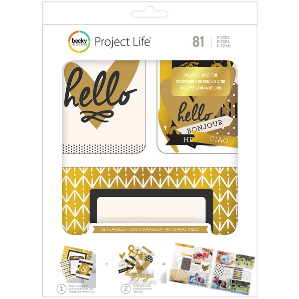 Bild von Project Life Value Kit 81/Pkg Be Fearless W/Gold Foil Treatments