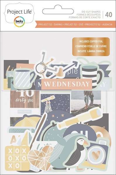 Bild von Project Life Ephemera Die-Cut Shapes 40/Pkg Daring Edition W/Copper Foil