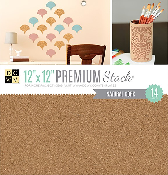 "Bild von DCWV Specialty Stack 12""X12"" 14/Pkg-Natural Cork"