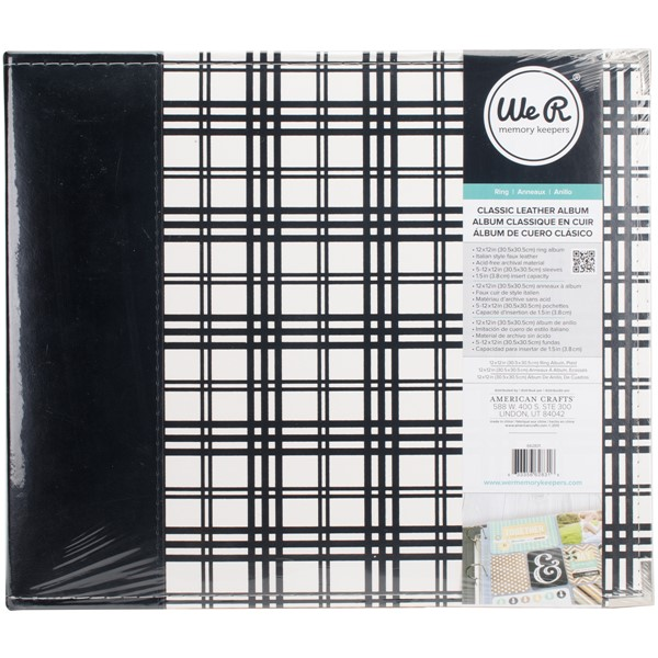 "Bild von We R Designer D-Ring Album 12""X12""-Plaid"