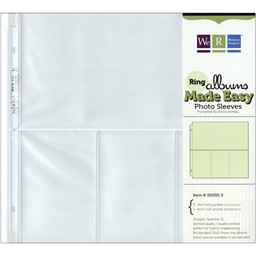 "Bild von We R Ring Photo Sleeves 12""X12"" 10/Pkg-(3) 6""X4"" & (1) 6""X12"" Pockets"