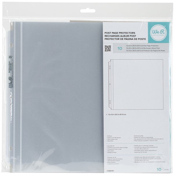 "Bild von We R Post Bound Photo Sleeves 12""X12"" 10/Pkg-Full Page"