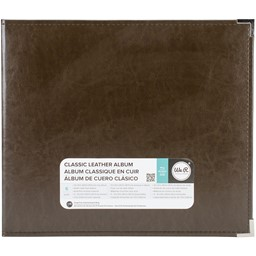 "Bild von We R Classic Leather D-Ring Album 12""X12""-Dark Chocolate"