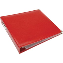 "Bild von We R Classic Leather D-Ring Album 12""X12""-Real Red"