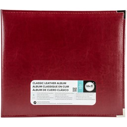 "Bild von We R Classic Leather D-Ring Album 12""X12""-Wine"