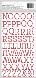 "Bild von American Crafts Thickers Stickers 5.5""X11""-Joyful Christmas W/Red Foil, 130/Pkg"