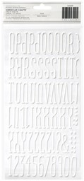 Bild von American Crafts Foil Alphabet Stickers-Maple-White, 138/Pkg
