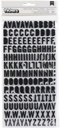 Bild von American Crafts Chipboard Alphabet Stickers-Tuxedos & Tiaras, 243/Pkg