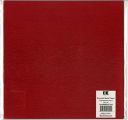 "Bild von Best Creation Brushed Metal Single-Sided Paper 12""X12""-Red"