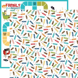 "Bild von Family Night Double-Sided Cardstock 12""X12""-Soda"