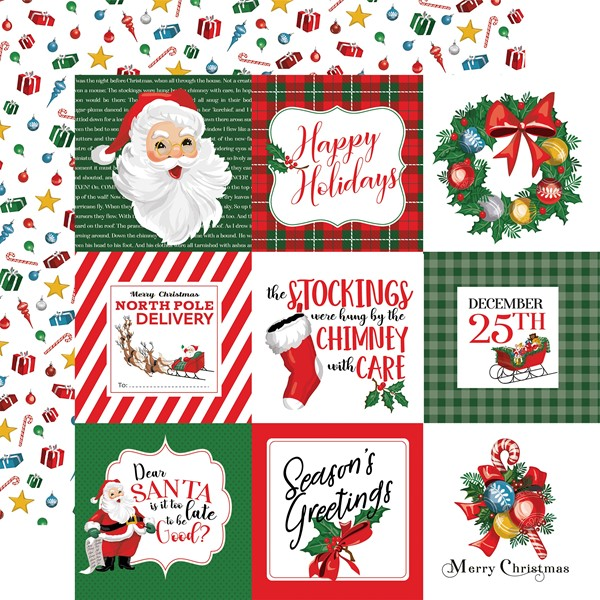 "Bild von Dear Santa Double-Sided Cardstock 12""X12""-4""X4"" Journaling Cards"