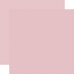 "Bild von Carta Bella Dots Double-Sided Cardstock 12""X12""-Light Mauve"