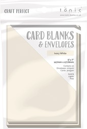 "Bild von Craft Perfect Card Blanks 5""X7""-Ivory White"