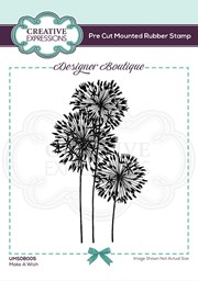 Bild von Creative Expressions Designer Boutique Pre Cut Rubber Stamp-Make A Wish
