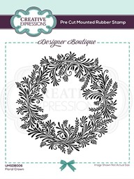 Bild von Creative Expressions Designer Boutique Pre Cut Rubber Stamp-Floral Crown