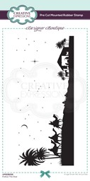 Bild von Creative Expressions Designer Boutique Pre Cut Rubber Stamp-Follow The Star Dl