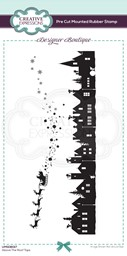 Bild von Creative Expressions Designer Boutique Pre Cut Rubber Stamp-Above The Roof Tops Dl
