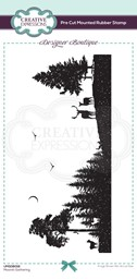Bild von Creative Expressions Designer Boutique Pre Cut Rubber Stamp-Moonlit Gathering Dl