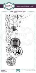 Bild von Creative Expressions Designer Boutique Pre Cut Rubber Stamp-Bauble Pendant Dl